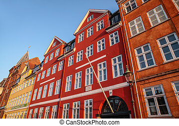 Colorful facades in Copenhagen