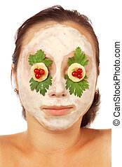 Colorful facial mask isolated
