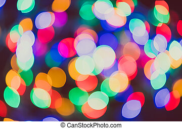 colorful fairy led lights bokeh