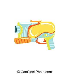 Colorful Fantastic Water Pistol Colorful Flat Bright Color...
