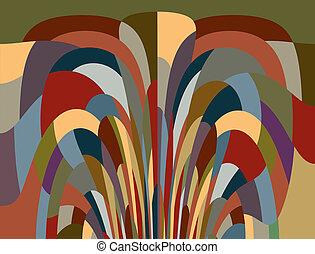 Colorful fantasy mosaic