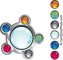 colorful fantasy web buttons - colorful glossy fantasy web...