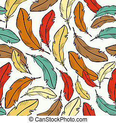 Colorful feather pattern