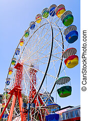 Colorful ferris wheel - The ferris wheel at Luna Park,...
