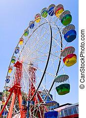 Colorful ferris wheel - The ferris wheel at Luna Park, ...