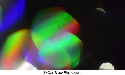 Colorful festive bokeh, spectral futuristic colors,...