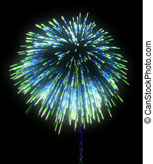Colorful festive fireworks at night