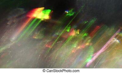 Colorful festive iridescent bokeh, spectral futuristic...