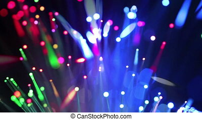 Colorful fiber optics