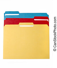 Colorful File Folders - File folder for compiling info on...
