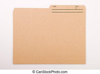 Colorful File Folders - File folder for compiling info on...