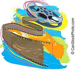 colorful film reel
