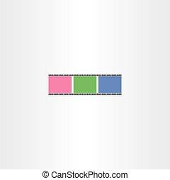 colorful film strip icon vector