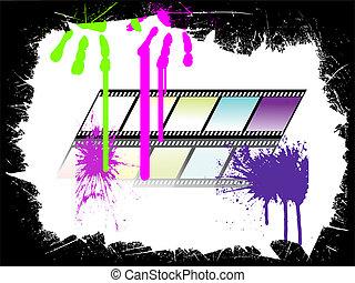 colorful film stripe