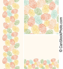 Colorful fingerprints seamless pattern background - Vector...