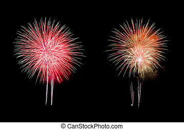 Colorful Firework Background