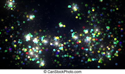 colorful firework bursts slowmotion loopable background