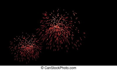 Colorful fireworks at holiday night, celebration, seamless loop