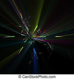 Colorful fireworks celebration illustration glowing