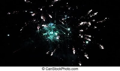 Colorful fireworks in the sky HD