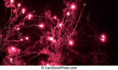 colorful fireworks on night sky