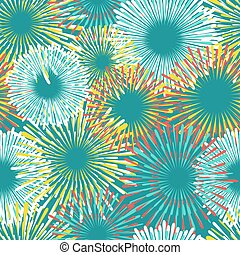 Colorful fireworks seamless pattern design