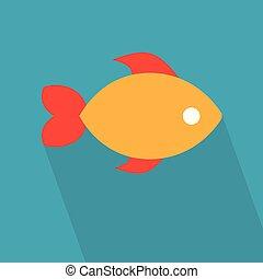 colorful fish icon- vector illustration
