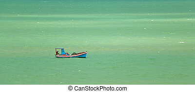 Colorful fisherman's boat