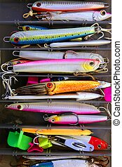 Colorful fishing saltwater fish lures box - Colorful fishing...