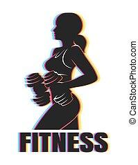 Colorful Fitness Emblem