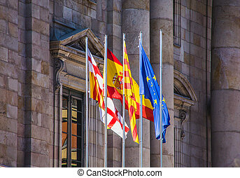 Flags on Old Spanish Government Building