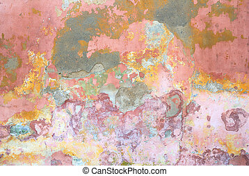 Colorful flaked wall texture abstract background