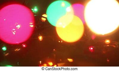 colorful flashing christmas lights