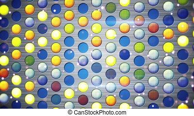 colorful flashing light bulbs loop - colorful flashing light...
