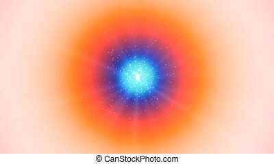 Colorful flashing lights. Rotating color background.