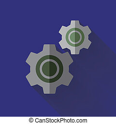 colorful flat design cogwheel icon