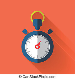 colorful flat design stopwatch icon