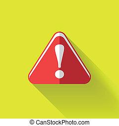 colorful flat design warning sign