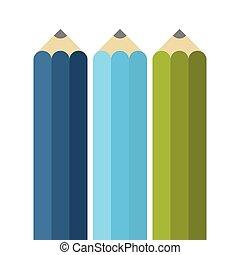 Colorful flat pencils