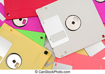 colorful floppy disks for background use