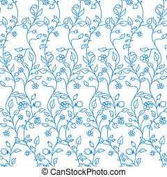 Colorful Floral Background Seamless Pattern. Vector