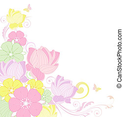 floral background with lotus