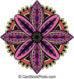 Colorful floral mandala.