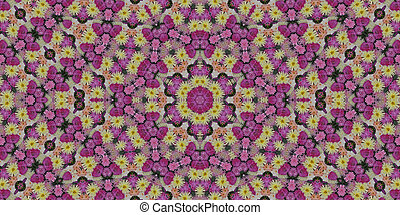 Colorful floral mandala