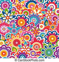 Colorful floral pattern. Seamless background.