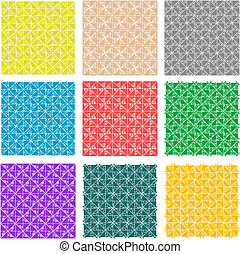 colorful floral seamless border art