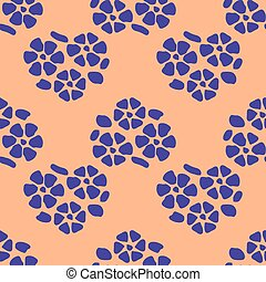 Colorful floral seamless pattern with dot background