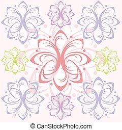 Colorful Floral Tile