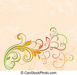 Colorful floral vector background with copy space.