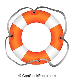 colorful flotation hoop with lasso vector illustration